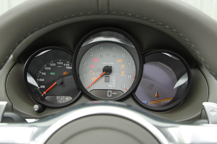 Porsche Boxster instrument cluster