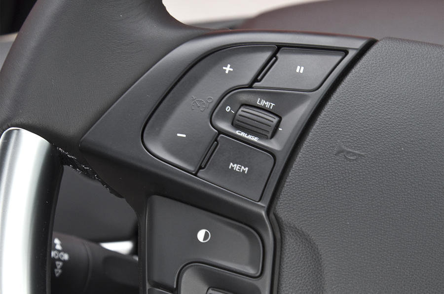 Citroën Grand C4 Picasso audio controls