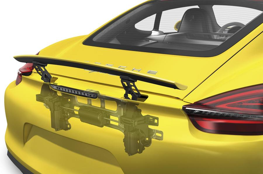 Porsche Cayman retractable spoiler