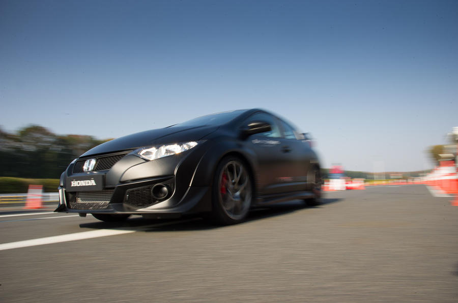 Honda Civic Type-R prototype on track