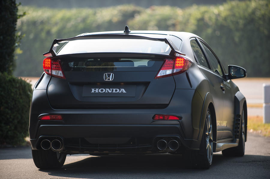 Honda Civic Type-R prototype rear end