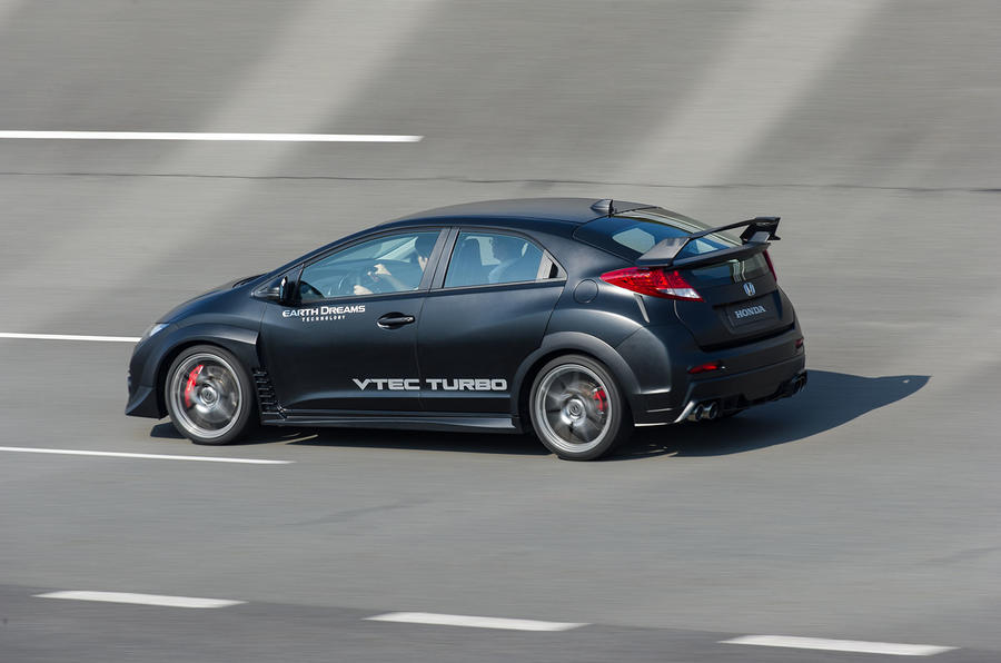 Honda Civic Type-R prototype side profile