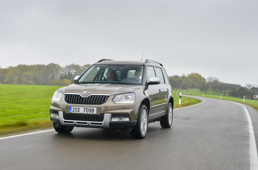 Skoda Yeti Outdoor cornering