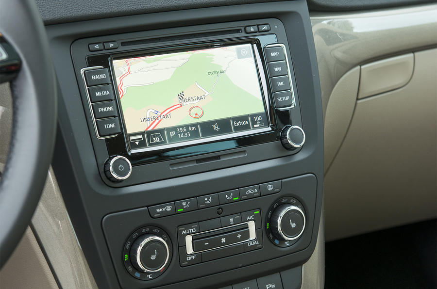 Skoda Yeti Outdoor infotainment