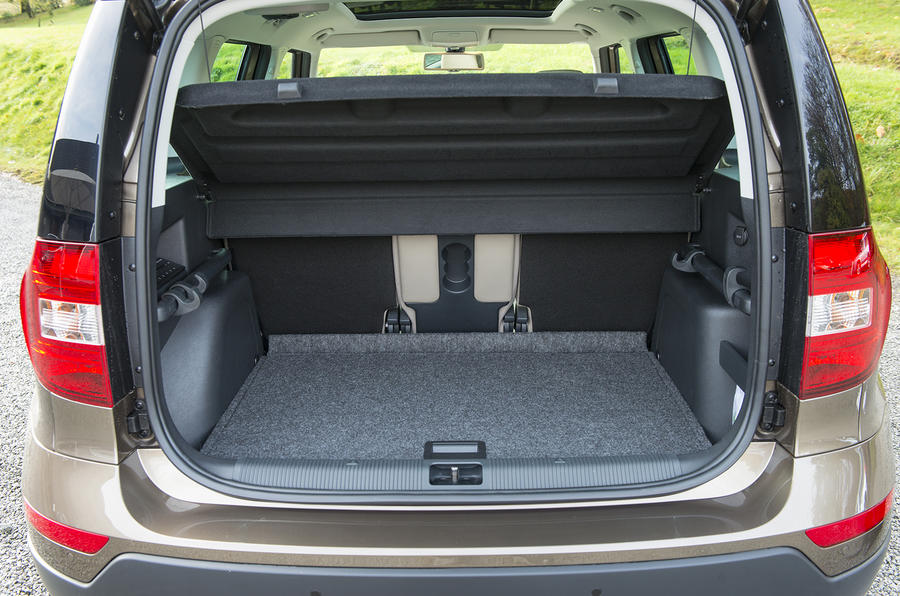 Skoda Yeti Outdoor boot space