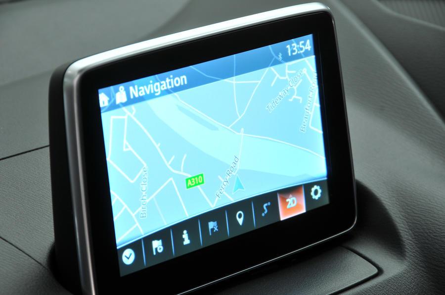 Mazda 2 infotainment system