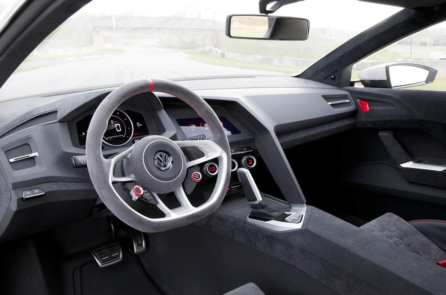 VW Golf Design Vision GTI dashboard