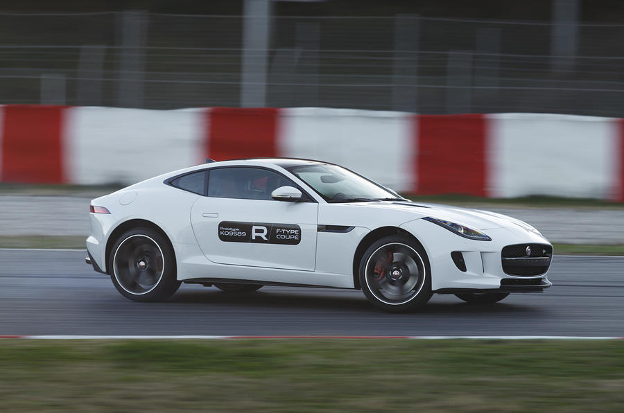 Jaguar F-type R coupe prototype cornering