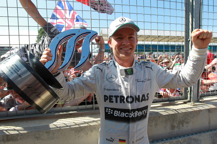 Nico Rosberg wins British Grand Prix amid tyre chaos