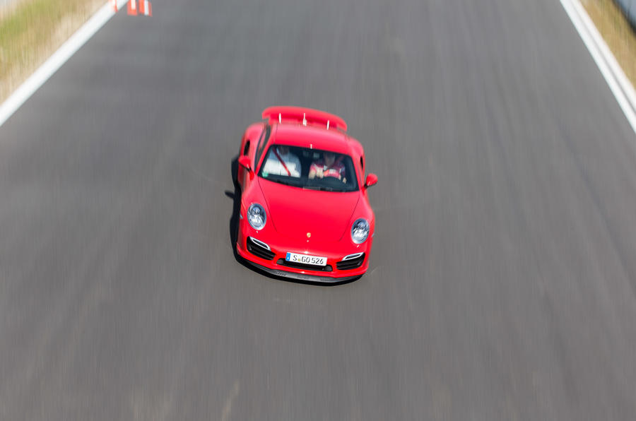 Porsche 911 Turbo on track