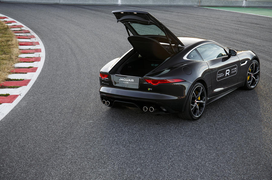 Jaguar F-type R coupe prototype boot open