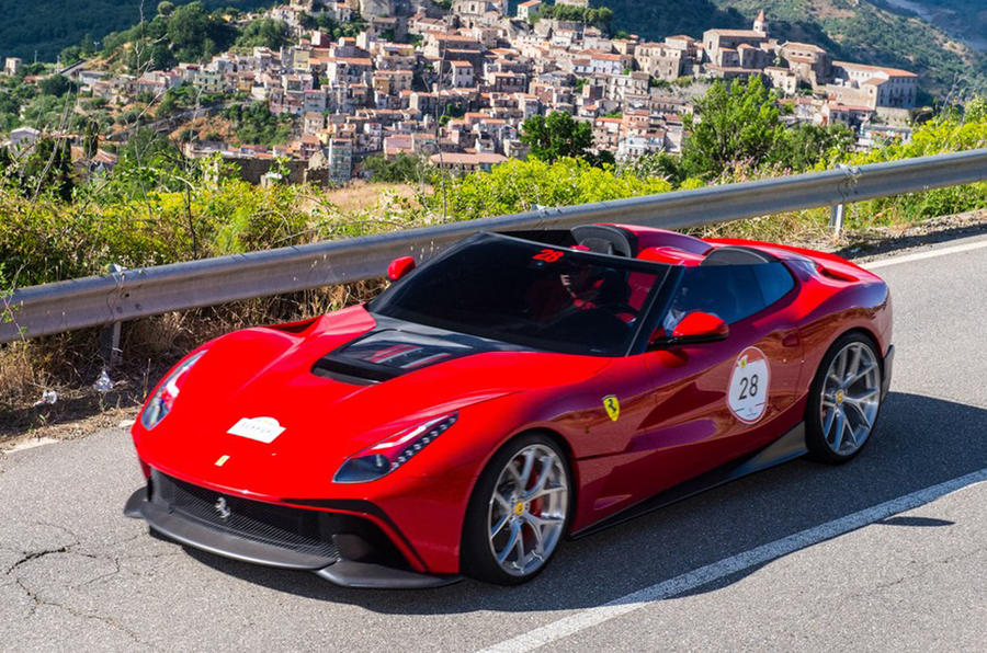 one off ferrari f12 trs unveiled in italy. Black Bedroom Furniture Sets. Home Design Ideas