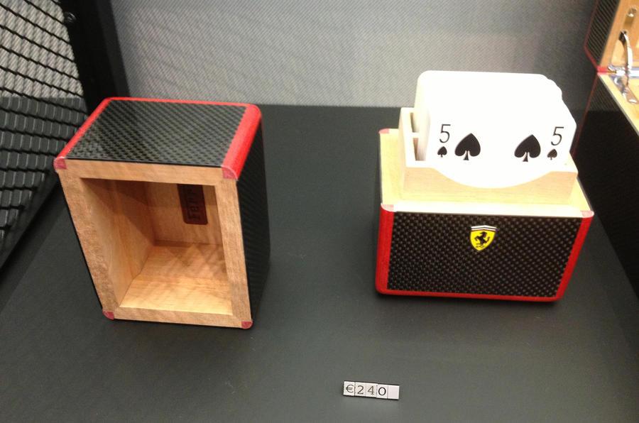 Ferrari, €15 deodorant, €19 mugs and €52 ashtrays....