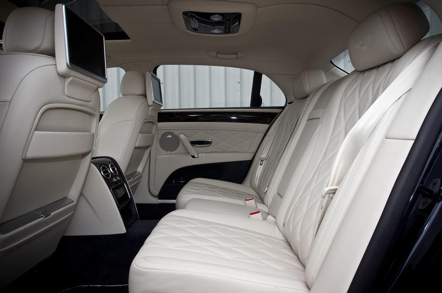 Bentley Flying Spur's rear seats