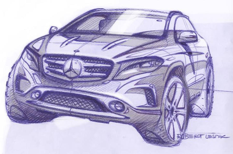 Mercedes shows GLA in official sketch
