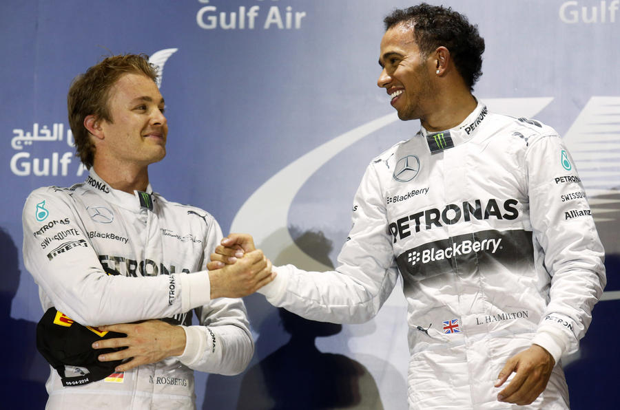 Hamilton fends off Rosberg for Bahrain GP victory