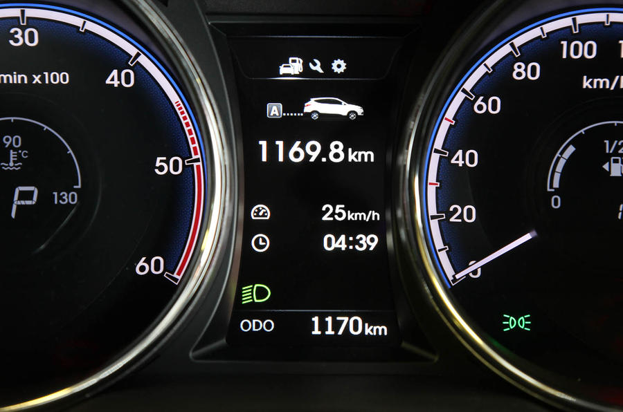 Hyundai ix35 instrument cluster
