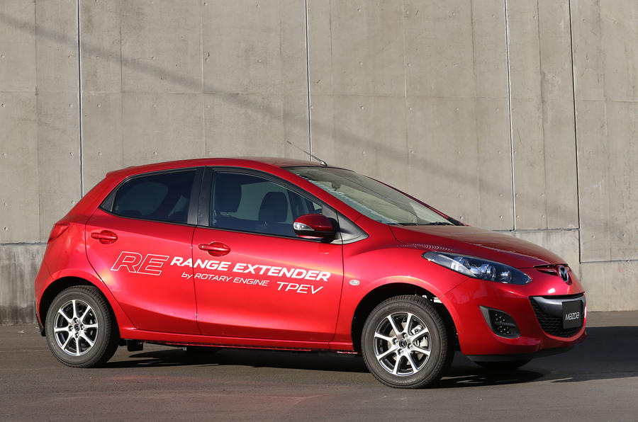 1300kg Mazda 2 EV range extender
