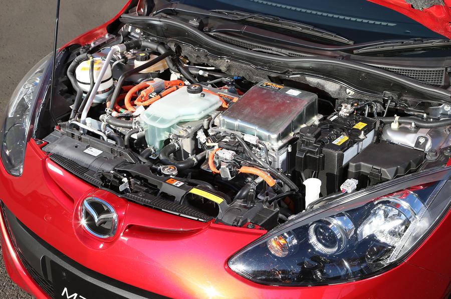 Mazda 2 EV range extender engine bay