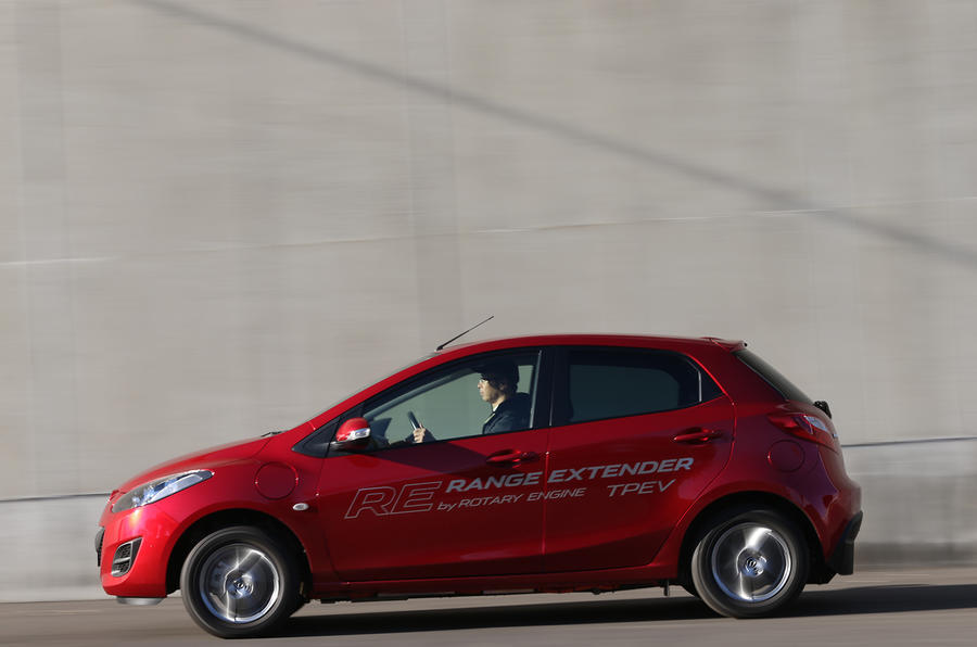 Mazda 2 EV range extender prototype first drive review