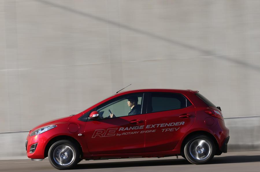 Mazda 2 EV range extender prototype first drive review