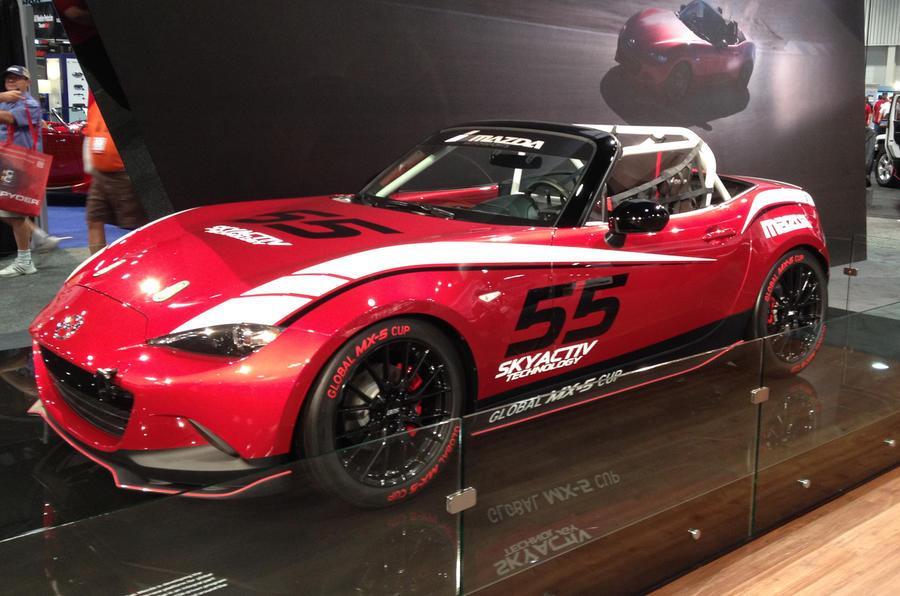 SEMA 2014   New Mazda MX 5 Global Cup Racer