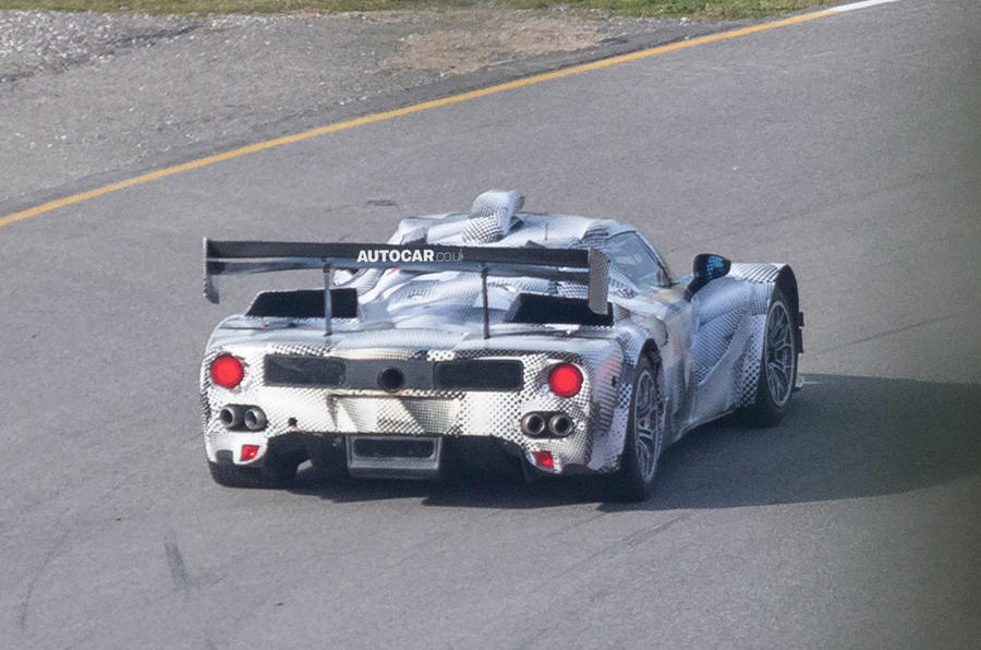 LaFerrari based race car spied