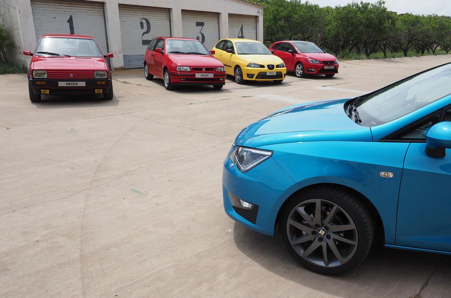 Driving Seat's historic Ibiza models