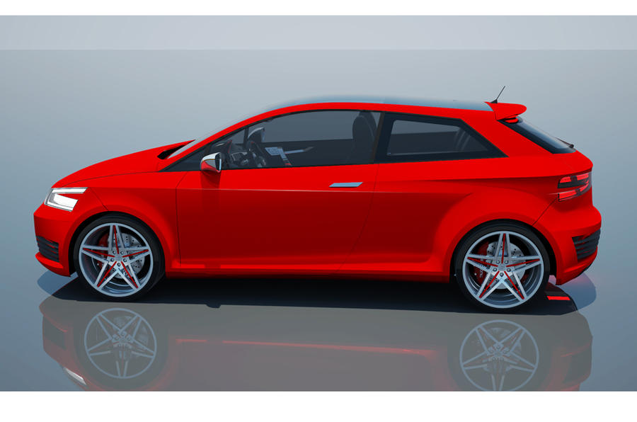 New Seat Ibiza Cupra previewed in computer renderings