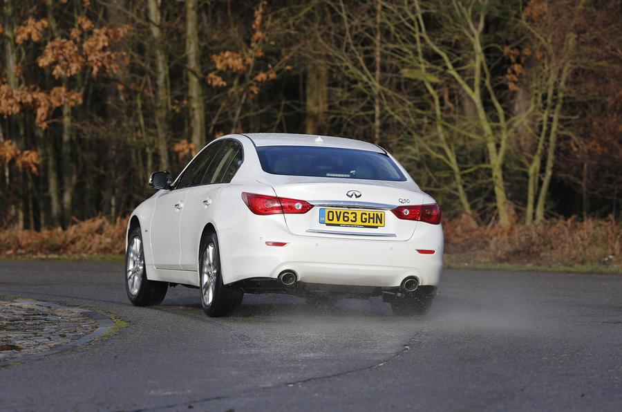 Infiniti Q50 rear cornering