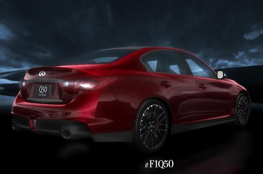 Infiniti Q50 Eau Rouge concept revealed in official pictures