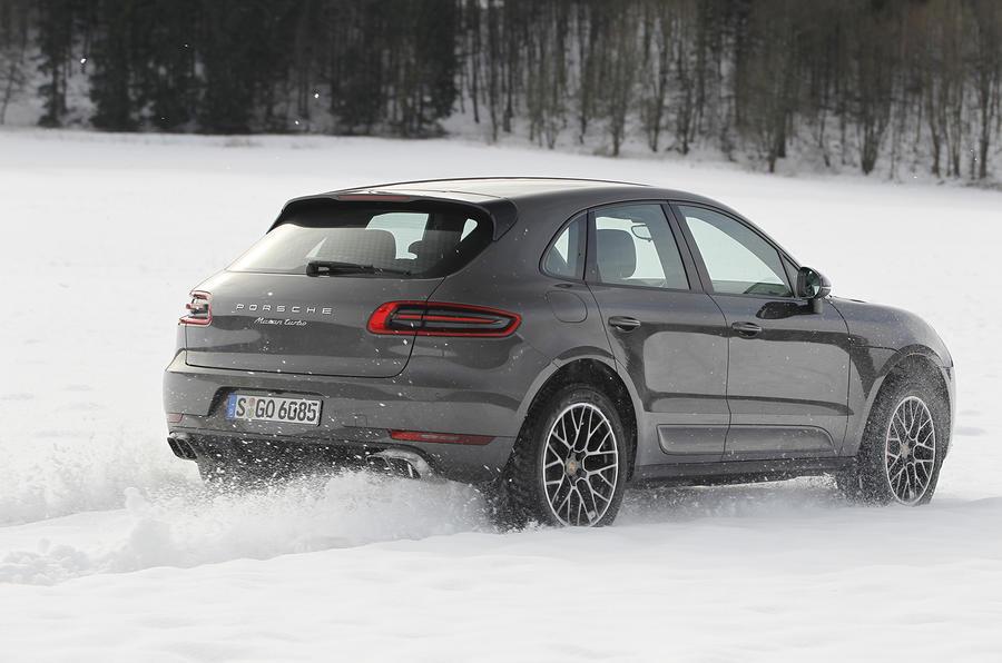 Porsche Macan Turbo on snow