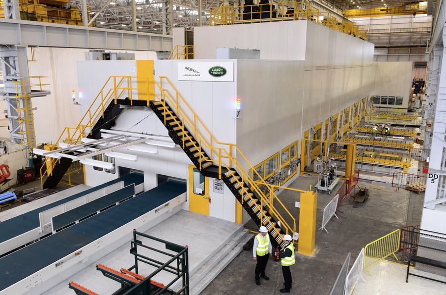 Jaguar Land Rover invests £45 million in new stamping press