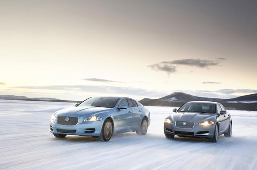 Jaguar XJ on ice