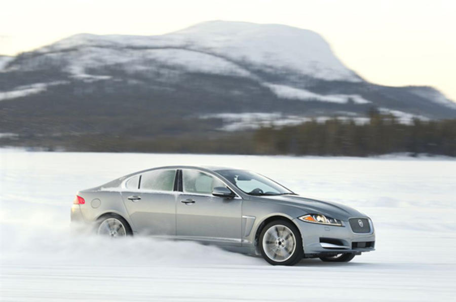 Jaguar XJ on the snow
