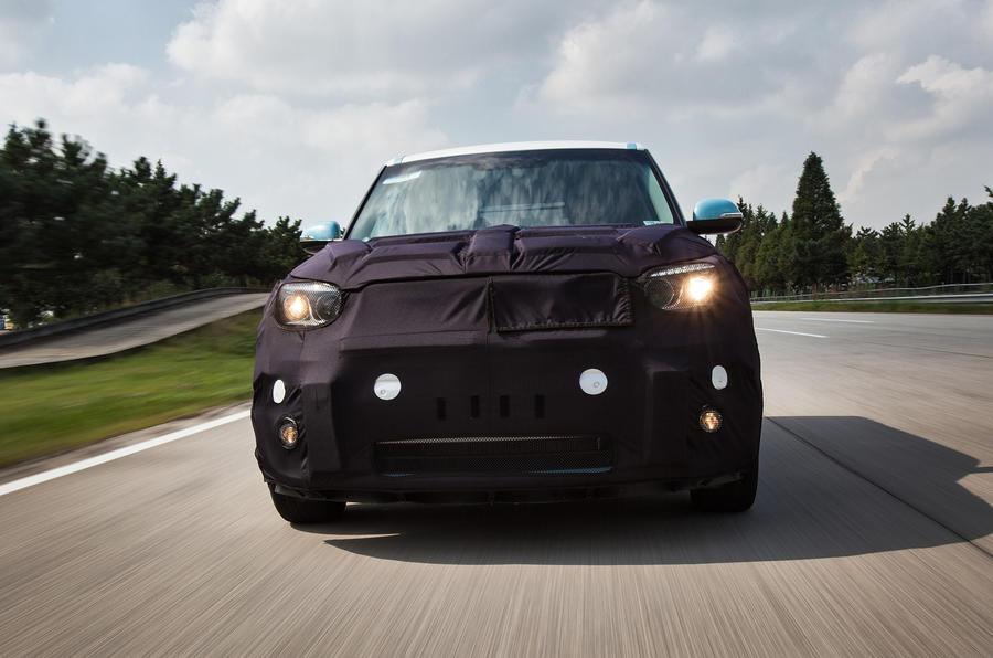 Kia Soul EV on the road