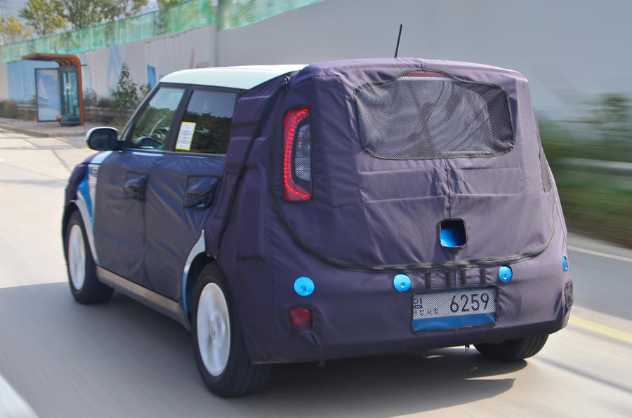 Kia Soul EV rear end