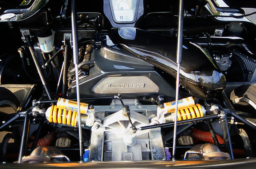 4.7-litre V8 Ford engine in the Koenigsegg