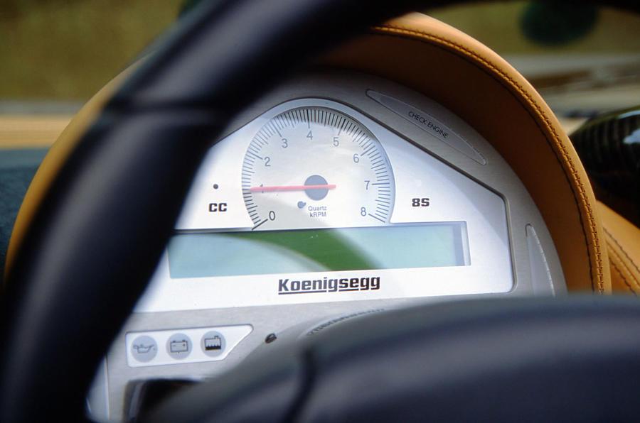 Koenigsegg CC8S speedometer