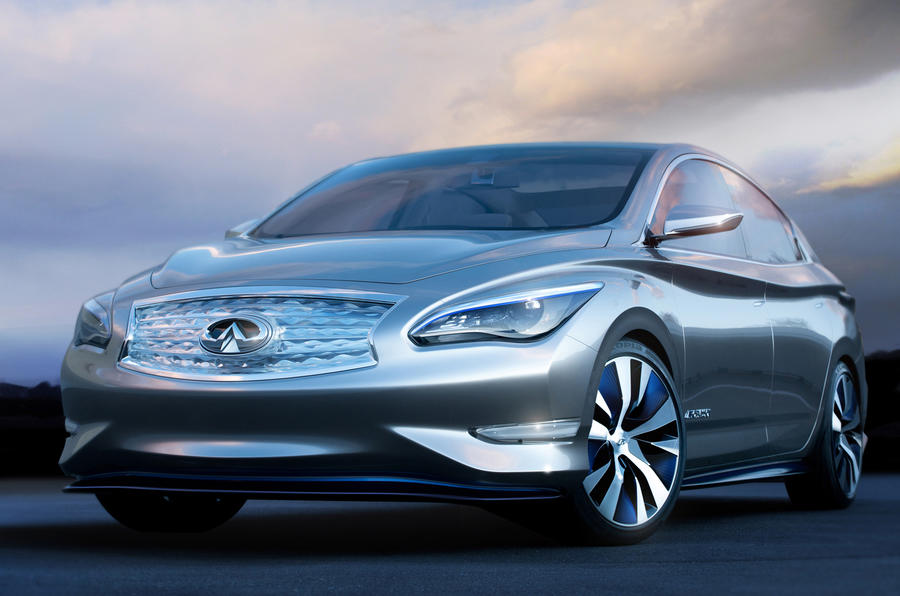 launch of infiniti electric vehicle hinges on induction