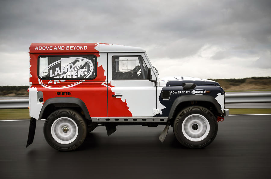 Land Rover Defender Challenge side profile