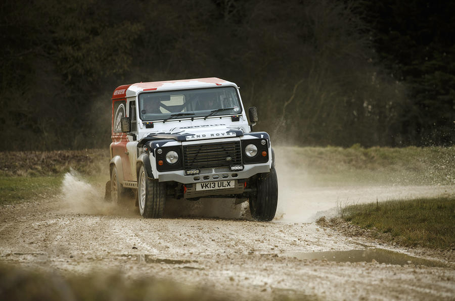 Land Rover Defender Challenge cornering
