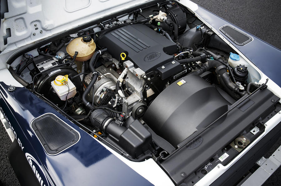 2.2-litre Land Rover Defender Challenge engine