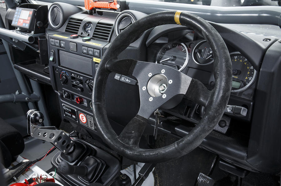 Land Rover Defender Challenge dashboard