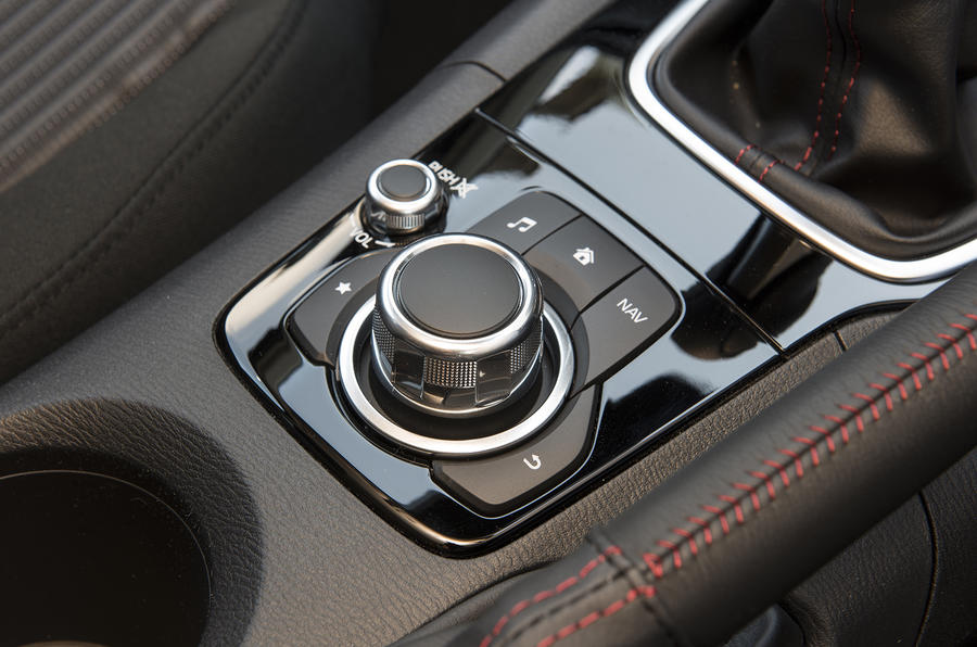 Mazda 3 infotainment controls