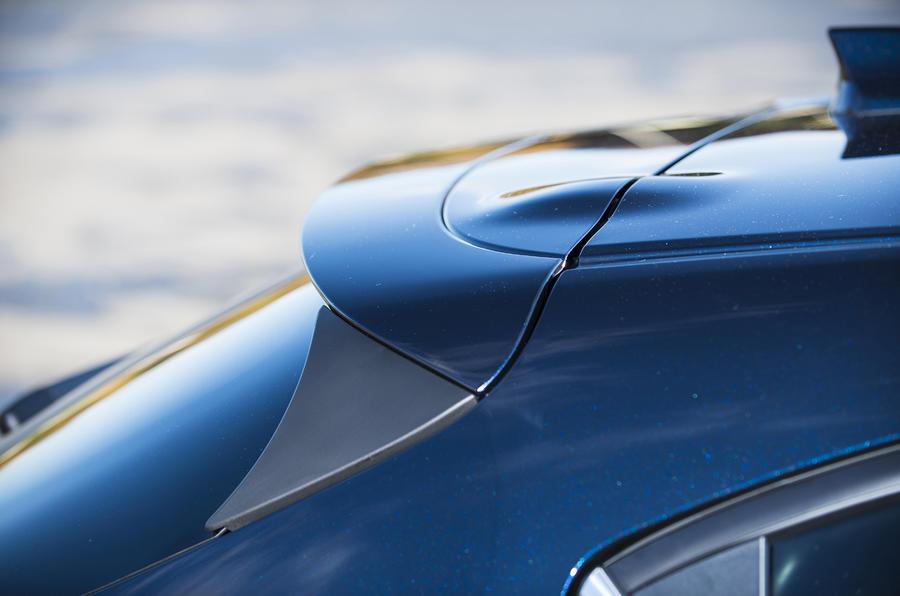 Mazda 3 roof spoiler