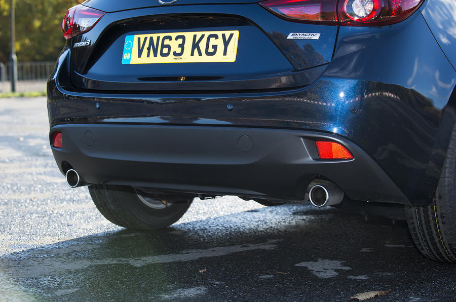 Mazda 3 twin exhaust