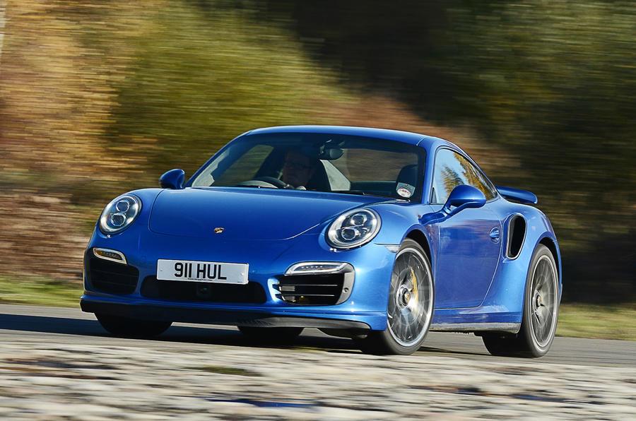 Porsche 911 Turbo hard cornering
