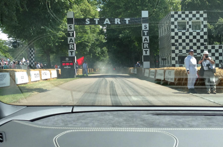 Tackling Goodwood's famous hill climb in a Lamborghini Huracan