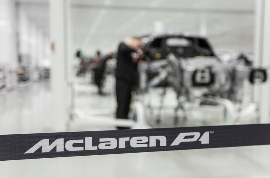 McLaren P1 production begins